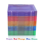 SLIM ASSORTED Color CD Jewel Cases