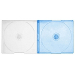 SLIM BLUE Color Double CD Jewel Cases