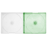 SLIM GREEN Color Double CD Jewel Cases