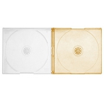 SLIM ORANGE Color Double CD Jewel Cases
