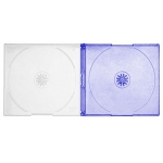 SLIM PURPLE Color Double CD Jewel Cases