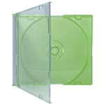 SLIM GREEN Color CD Jewel Cases