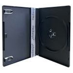 STANDARD Black Single DVD Cases 14MM (Machinable Quality)
