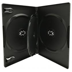 10 STANDARD Black Triple 3 Disc DVD Cases /w Patented M-Lock Hub