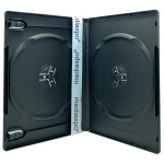PREMIUM STANDARD Black Double DVD Cases (100% New Material)