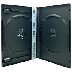 10 STANDARD Black Double DVD Cases (Machinable Quality)