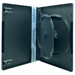 STANDARD Black Double DVD Cases with Inner Flap