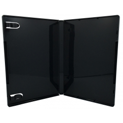 10 Black Glossy Storage Cases 14mm For Rubber Stamps (no Hub)