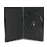 SLIM Black Single DVD Cases 9MM