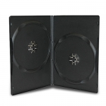 SLIM Black Double DVD Cases 9MM