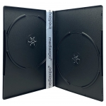 PREMIUM SLIM Black Double DVD Cases 7MM (100% New Material)