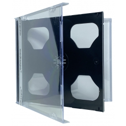 10 STANDARD Black Double CD Jewel Case