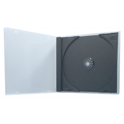 50 STANDARD Black Single VCD PP Poly Cases 10.4MM