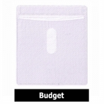 CD Double-sided Plastic Sleeve White Budget