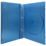 SLIM Clear Blue Color Single DVD Cases 7MM