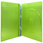 SLIM Clear Green Color Single DVD Cases 7MM