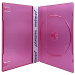 SLIM Clear Red Color Single DVD Cases 7MM