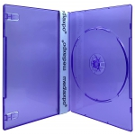 SLIM Clear Purple Color Single DVD Cases 7MM