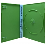 SLIM Solid Green Color Single DVD Cases 7MM