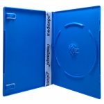SLIM Solid Blue Color Single DVD Cases 7MM