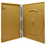 SLIM Solid Orange Color Single DVD Cases 7MM