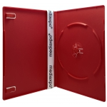 SLIM Solid Red Color Single DVD Cases 7MM