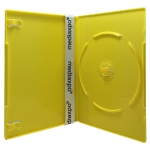 SLIM Solid Yellow Color Single DVD Cases 7MM