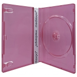 STANDARD Clear Red Color Single DVD Cases