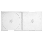 SLIM Clear Double CD Jewel Cases