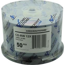 50 Checkoutstore Cd-rw 12x 80min/700mb Shiny Silver