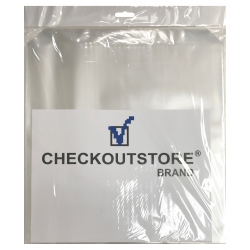 """100 Checkoutstore Clear Plastic Cpp Outer Sleeves With Flap For 12"""" Vinyl 33 Rpm Records"""