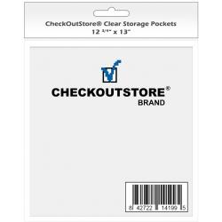 100 Checkoutstore Clear Storage Pockets No Flap (12 3/4 X 13)