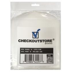 100 Checkoutstore Clear Storage Pockets (5 X 5 1/8)