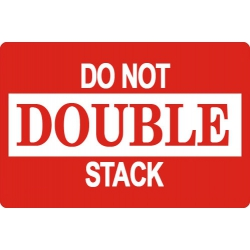 """10000 2 X 3"""" Do Not Double Stack Shipping Sticker Labels"""