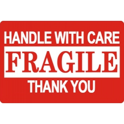 """10000 2 X 3"""" Fragile Handle With Care Shipping Sticker Labels"""