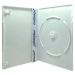 SLIM Solid White Color Single DVD Cases 7MM
