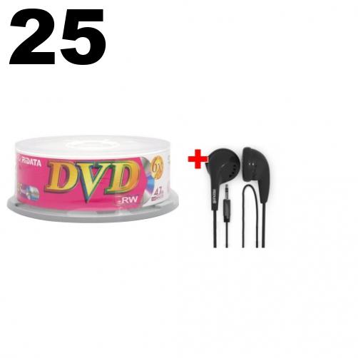 50 CheckOutStore CD-RW 12X 80Min//700MB White Inkjet /& FREE Maxell Earbud