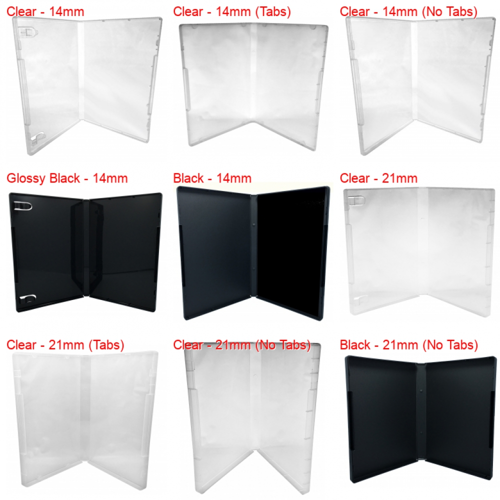 25 CheckOutStore Plastic Storage Cases for Rubber Stamps Clear