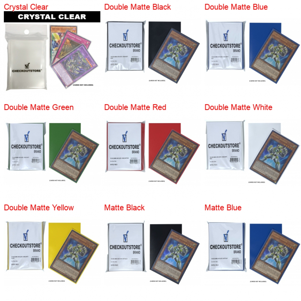 CheckOutStore 66 x 91 mm Matte Blue 50 Protective Sleeves for Trading Cards