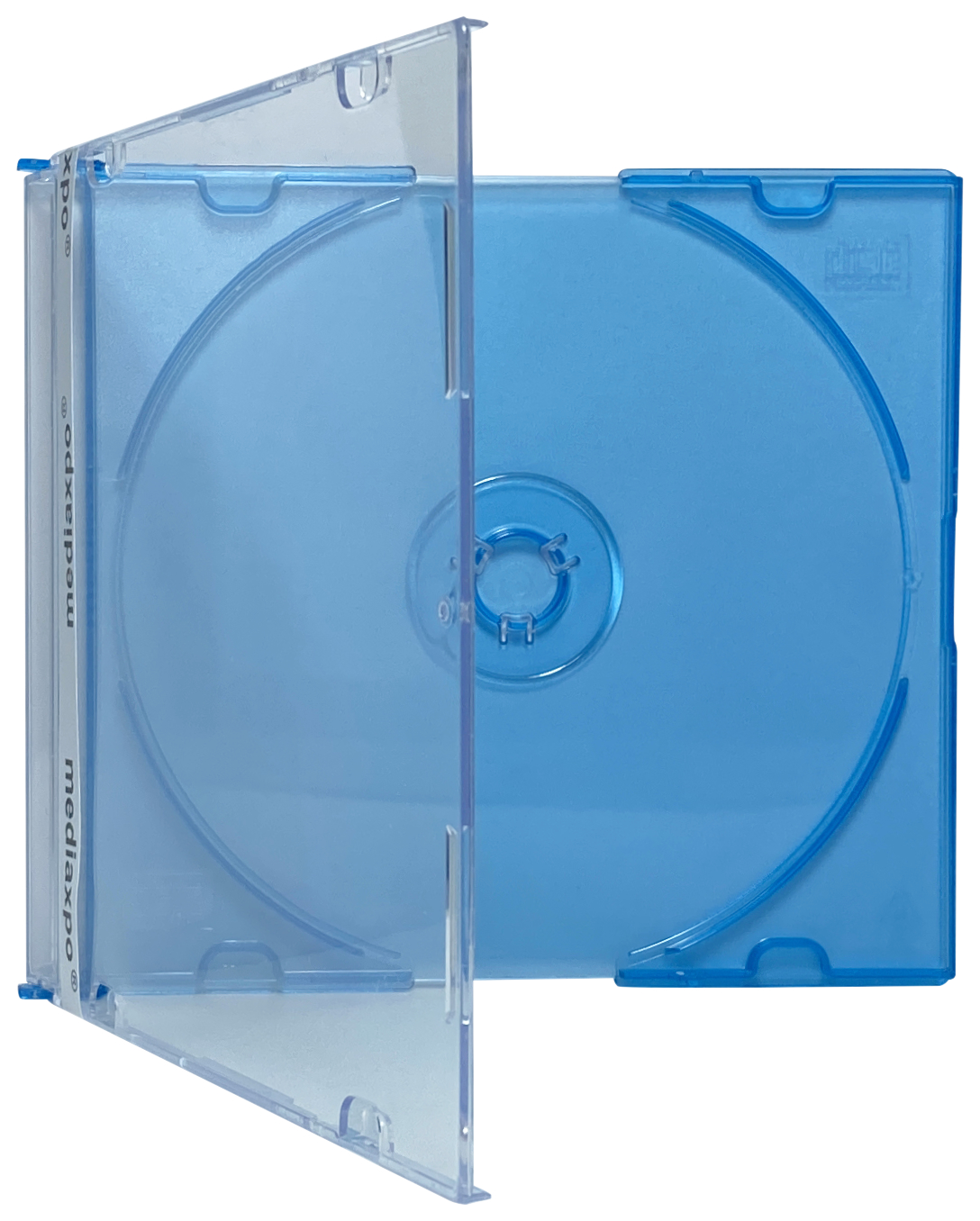 100 SLIM BLUE Color CD Jewel Cases
