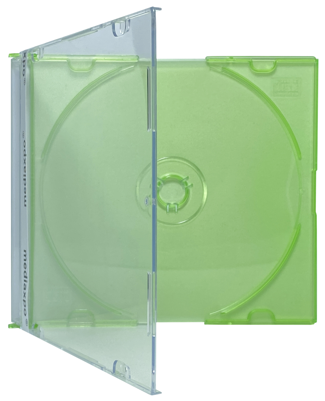 100 SLIM GREEN Color CD Jewel Cases